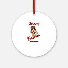 GROOVY GRAM Ornament (Round)