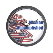 Mission Accomplished Wall Clock