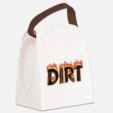 Flaming Dirt Canvas Lunch Bag