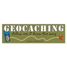 Geocaching Bumper Bumper Sticker