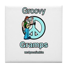 GROOVY GRAMPS Tile Coaster