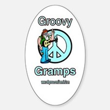 GROOVY GRAMPS Oval Decal