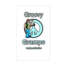 GROOVY GRAMPS Rectangle Decal