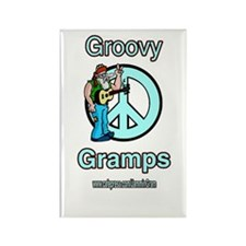 GROOVY GRAMPS Rectangle Magnet