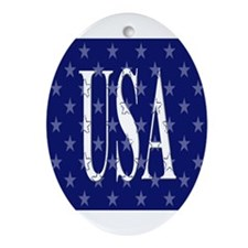 American Oval Ornament