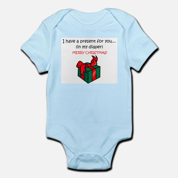 PRESENT IN MY DIAPER Infant Bodysuit
