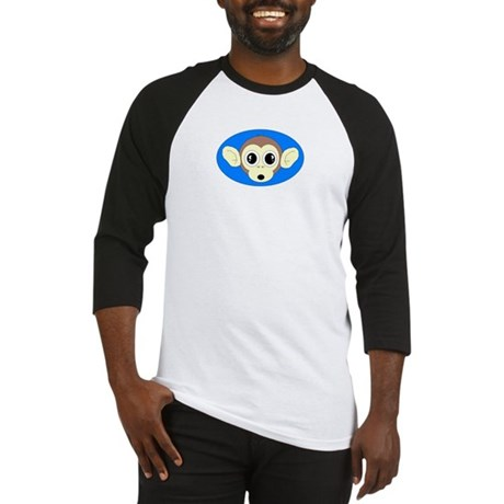MONKEY FACE ART 2 BLUE BACKGROUND Baseball Jersey