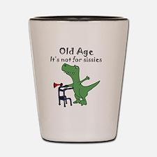 Cute Dinosaur birthday Shot Glass