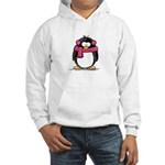 Pink Earmuff Penguin Hooded Sweatshirt