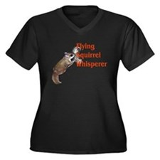 Flying Squirrel Whisperer Women's Plus Size V-Neck