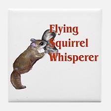 Flying Squirrel Whisperer Tile Coaster