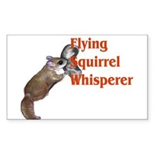 Flying Squirrel Whisperer Rectangle Decal