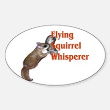 Flying Squirrel Whisperer Oval Decal