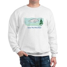Save the Manatees Christmas Tree Sweatshirt