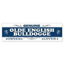 OLDE ENGLISH BULLDOGGE Bumper Bumper Sticker