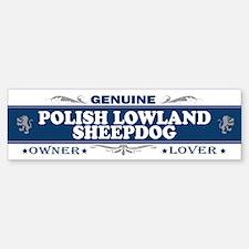 POLISH LOWLAND SHEEPDOG Bumper Bumper Bumper Sticker