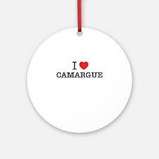 I Love CAMARGUE Round Ornament