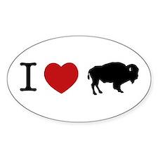 I Love Buffalo Oval Decal