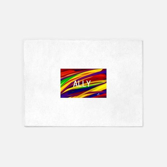 ALLY Gay Rainbow Art 5'x7'Area Rug