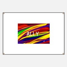 ALLY Gay Rainbow Art Banner