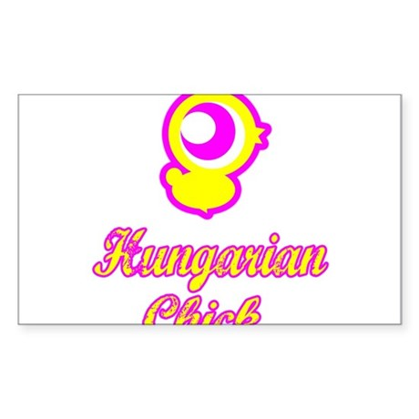 Hungarian chick Rectangle Sticker