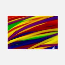 Gay Rainbow Art Magnets