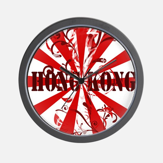 Vintage red Hong Kong Wall Clock