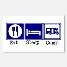 Eat, Sleep, Camp (RV style) Rectangle Decal