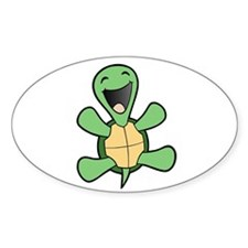 Skuzzo Happy Turtle Oval Decal
