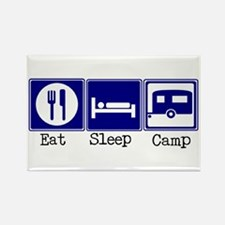 Eat, Sleep, Camp (Travel Trai Rectangle Magnet