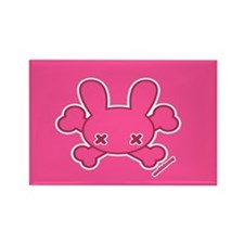 Zombie Bunny Rectangle Magnet