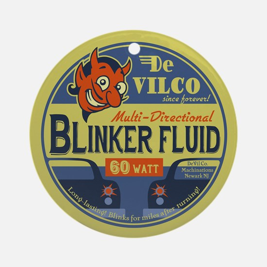 DeVilco Blinker Fluid Round Ornament