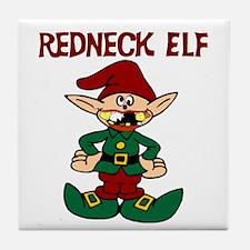 Redneck elf Tile Coaster
