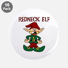"""Redneck elf 3.5"""" Button (10 pack)"""