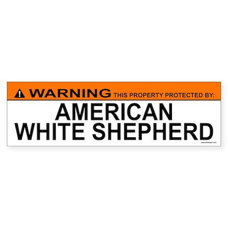 AMERICAN WHITE SHEPHERD Bumper Sticker