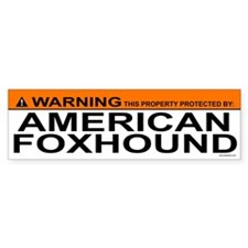 AMERICAN FOXHOUND Bumper Car Car Sticker