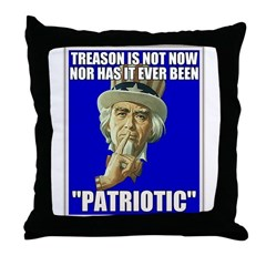 Treason Is Not Patriotic Throw Pillow