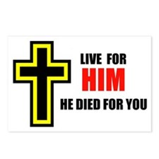 LIVE FOR HIM Postcards (Package of 8)
