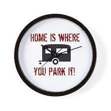 Home (Travel Trailer) Wall Clock