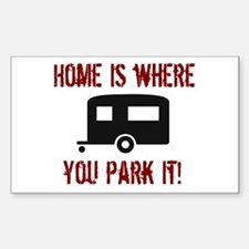 Home (Travel Trailer) Rectangle Bumper Stickers