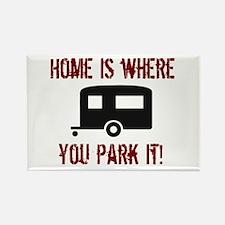 Home (Travel Trailer) Rectangle Magnet
