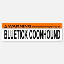 BLUETICK COONHOUND Bumper Bumper Bumper Sticker