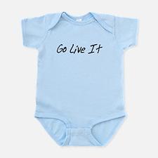 Go Live It Black logo transparent backgr Body Suit