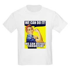 We Can Defeat Terrorism Kids Light T-Shirt