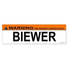 BIEWER Bumper Bumper Sticker