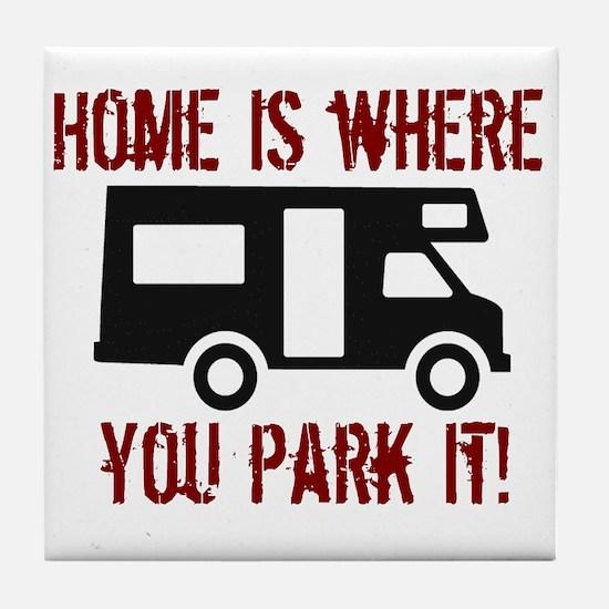Home (RV) Tile Coaster