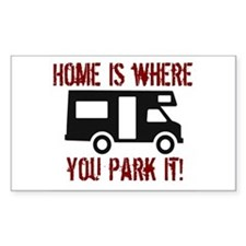 Home (RV) Rectangle Bumper Stickers