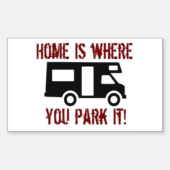 Home (RV) Rectangle Bumper Stickers