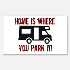 Home (RV) Rectangle Decal