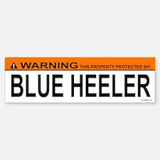 BLUE HEELER Bumper Car Car Sticker